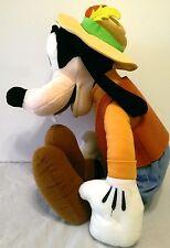 "Big Goofy Plush with Hat 20"" Disney World Disneyland Walt Disney Feathers"