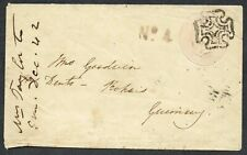 1842 1d Pink Postal Stationery Envelope Fine Teignmouth MX No4 RH Kingskerswell