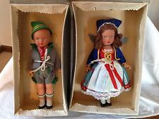 "TWO ADORABLE Tagged VIntage 9"" NIOB Gura Dolls made in W. Germany"