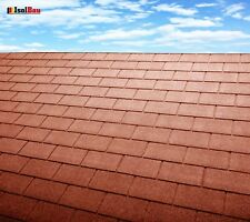 Dachschindeln 30 m? Rechteck Form Ziegelrot (10 Pakete) Schindeln Dachpappe