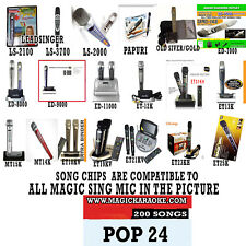 MAGIC SING MIC SONG CHIP POP 24 200 SONGS ALSO WORKS WITH 2019 ET23KPRO