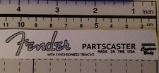 Fender Partscaster Silver Waterslide Decal Headstock Logo Restoration