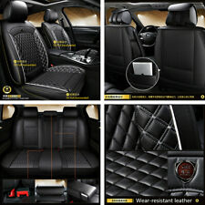 Deluxe PU Leather 5-Seat Car Seat Covers Front+Rear Full Set Cushion Universal