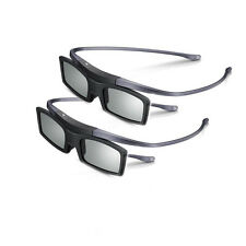 2 Active Shutter 3D Glasses Real 3D for TV Cinema DLP Projector Movie Night Film