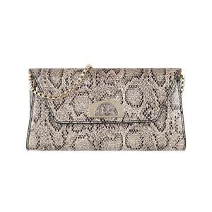 Chrisitan Louboutin Champagne Roccia Glitter Snakeprint Vero Dodat Clutch Bag