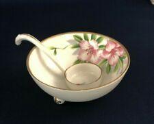 Antique hand painted porcelain mayonnaise bowl & ladle NIPPON 1891 - 1921