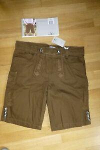Herren Trachten Hose Bermuda - Jeans - braun - Gr. 52 - Waldschütz - NEU Etikett