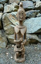 Antique African Dogon Tribe Mother & Child Maternity Statue Wood Figure, Mali