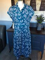 SEASALT LOTTIE DRESS VINTAGE INSPIRED TEA DRESS CORNWALL UK 16