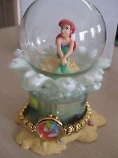 Disney Little Mermaid Ariel 10th Ann. Mini Globe with Shell Watch LE 3000 #370