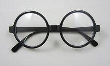 Retro Nerd Fashion Unisex Eyewear Clear Lens Fake Eye Glasses Black ROUND Frame