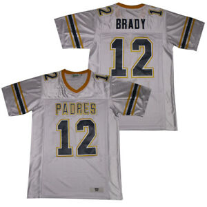 Throwback Tom Brady #12 High School Football Jerseys Padres Stitched Jerseys