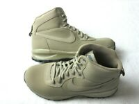 Nike Mens Manoadome Leather Hiking boots Khaki Dark Grey Size 10 New 844358 200