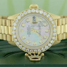 Rolex President Datejust Ladies Gold 26mm w/Tahitian Diamond Dial & 1.35Ct Bezel