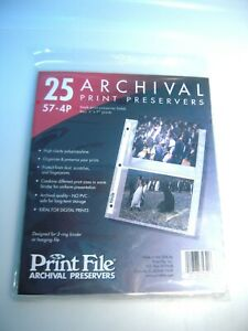"Print File 57-4P/25 Archival Prints Each Preserver Two prints 4(four) 5 X 7""--k1"