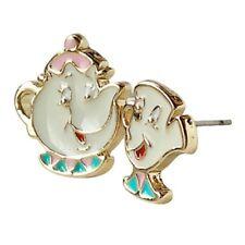 1Pair Lovely Cartoon Beauty And The Beast Earrings Cute Teapot Ear Studs Hot