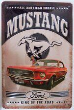 FORD MUSTANG 1967 USA , MUSCLE CAR , BLECHSCHILD mit PRÄGUNG 20 x 30 cm