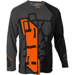 New 2020 509 Ridge Snowmobile or Snow Bike Jersey, Black and Orange Hextant, XXL
