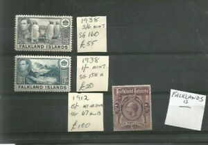 FALKLAND ISLANDS HIGH CAT AND VALUES  UPTO 5 SHILLING