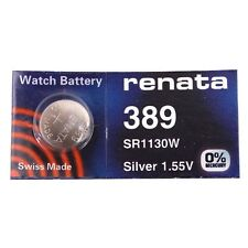 Renata Single Watch Battery Swiss Made 389 or SR1130SW Or AG10 1.5 V Fast Ship