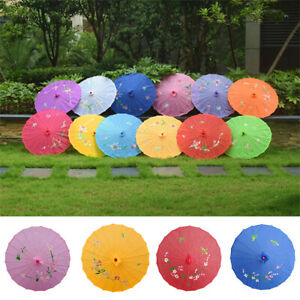 Chinese Oil Paper Umbrella Parasol Wedding Dance Ceiling Decor Photo Props New