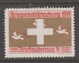 Switzerland Swiss Army Military Soldier Local Stamp MNH NO GUM 3-7-21- pigeon