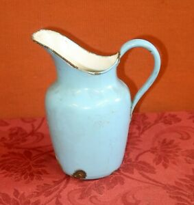 Vintage Blue Enamel Water Jug