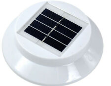3 LED Solar Powered Garden  LED Lamp Outdoor Clip Light-White