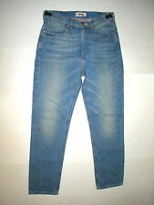 New NWT 28 Mens 48 IT Designer Acne Jeans Distressed Blue Crop High Waist Jones