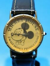 MICKEY MOUSE GOLD TONE COIN WATCH /LORUS V321-5060