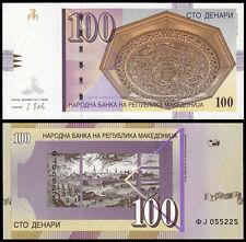 MACEDONIA 100 DENARI (P16j) 2013 UNC