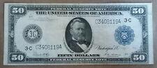 Nice FR 1035 1914 PHILADELPHIA $50 Federal Reserve Note WHITE-MELLON Signatures