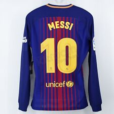 6d1b2d8c041da 2017-18 Barcelona Player Issue Home L S Shirt Messi  10 vs Real