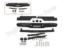 For 1993-1998 T100 Pickup Rear Bumper Black Face Bar With Hitch Pad Bracket 10Pc