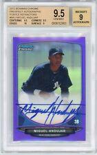 2013 Bowman Chrome Miguel Andujar 1st Autograph Purple #d 09/10 Graded BGS 9.5