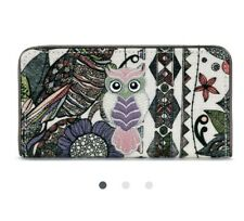 NEW FAB SAKROOTS OWL PURSE SUPPORTS WILD AT HEART CHARITY Slim Line