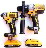 New DeWalt DCD996 20V XR 1/2 Hammer Drill, DCF887 Impact, (2) DCB203 Batteries