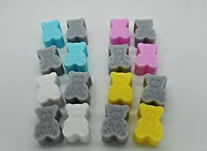 40 x Teddy Bear Soaps - Baby Shower Christening Gifts Favours Girl Boy Neutral O