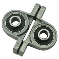 2Pcs KP08 Zinc Alloy Diameter 8mm Bore Ball Bearing Pillow Block Mounted Support