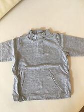 Jungen Sweatshirt Gr. 67 grau Pullover von vertbaudet