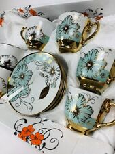 Unique Design Turkish coffee/ Tea cup set of 12 And Saucers Free Shipping
