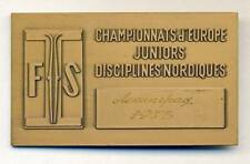 1973 FIS EUROPEAN NORDIC SKI CHAMPIONSHIPS participant MEDAL PLAQUE Leningrad