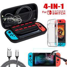 Für Nintendo Switch Tasche Hard Bag EVA Case+Schutz hülle+Ladekabel+ Hartglas