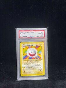 Pokemon Base Set Electrode 21/102 - 1999-2000 Print - Graded Card PSA 10