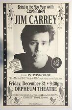 Original Jim Carrey Vancouver New Year's Eve 1993 poster