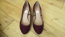 OFFICE Ladies Burgundy Faux Suede Court Shoes size 6 UK - 39 EU