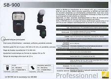 feuillet technique flash NIKON SB-900  édit. 2008. en français