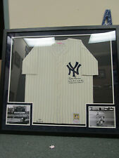 Don Larsen 1956 NY Yankees Signed & Framed Mitchell and Ness Jersey PSA M73716