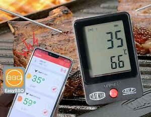 BBQ Meat Thermometer Digital / Wireless / barbecue with 2 SensorProbes 1m length