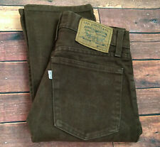 Vintage Levis 448 Jeans Brown Denim White Tab 90s Italy Made Slim Fit W29 L32